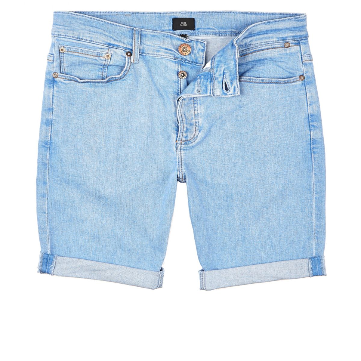 Light blue denim shorts 90s skinny BPZBqaFr