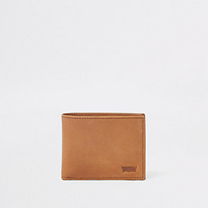 Levi's brown leather fold out wallet