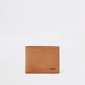 Levi's - Bruine uitklapbare leren portemonnee