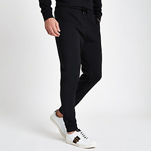 Black slim fit joggers