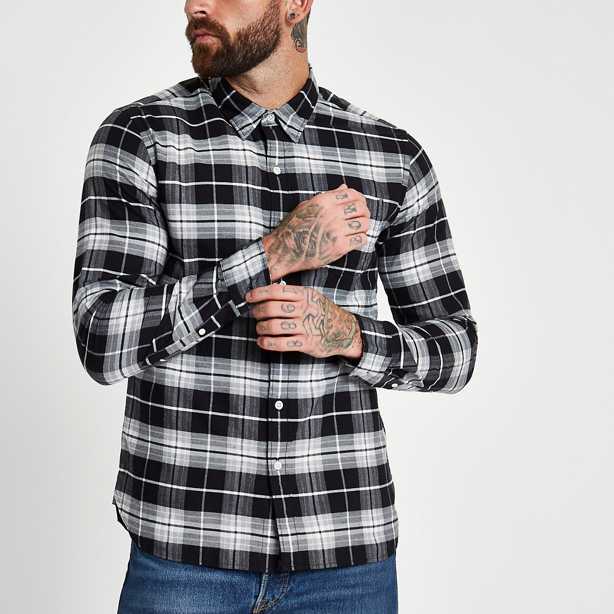 Levi's grey check long sleeve shirt