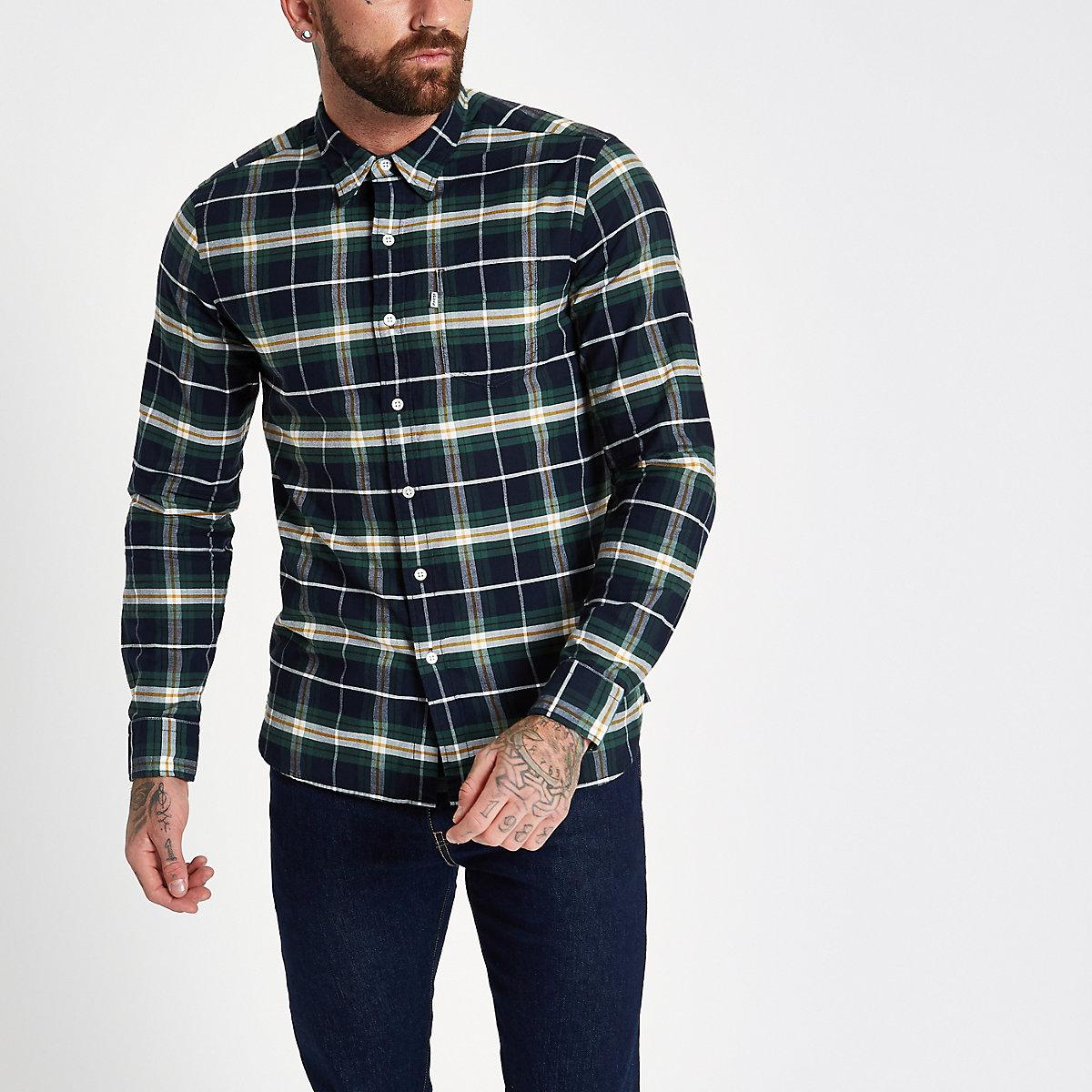 Levi's green check shirt