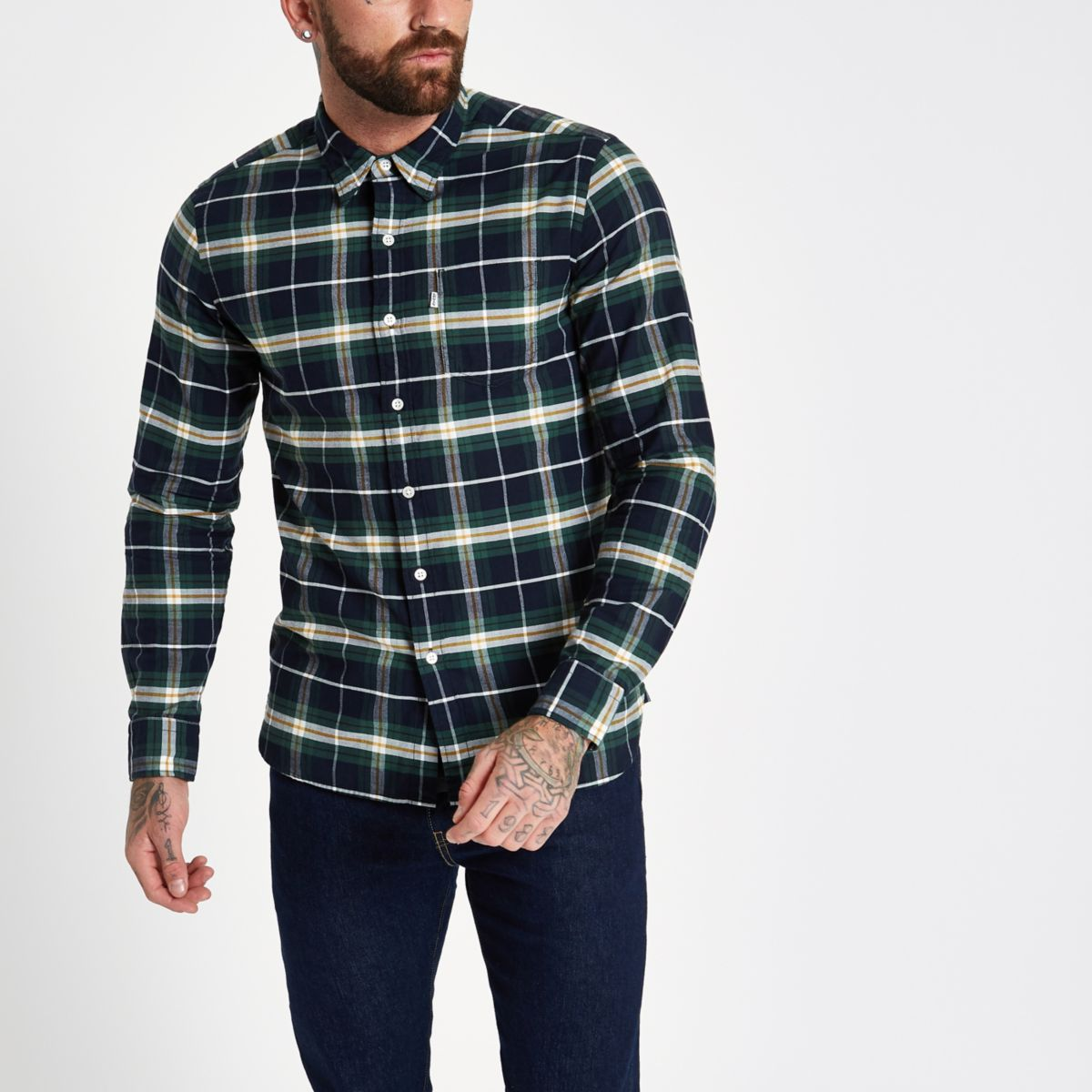 ​Levi's green check shirt