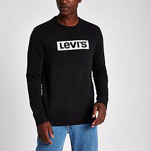 Levi's – Sweat noir à manches longues avec logo
