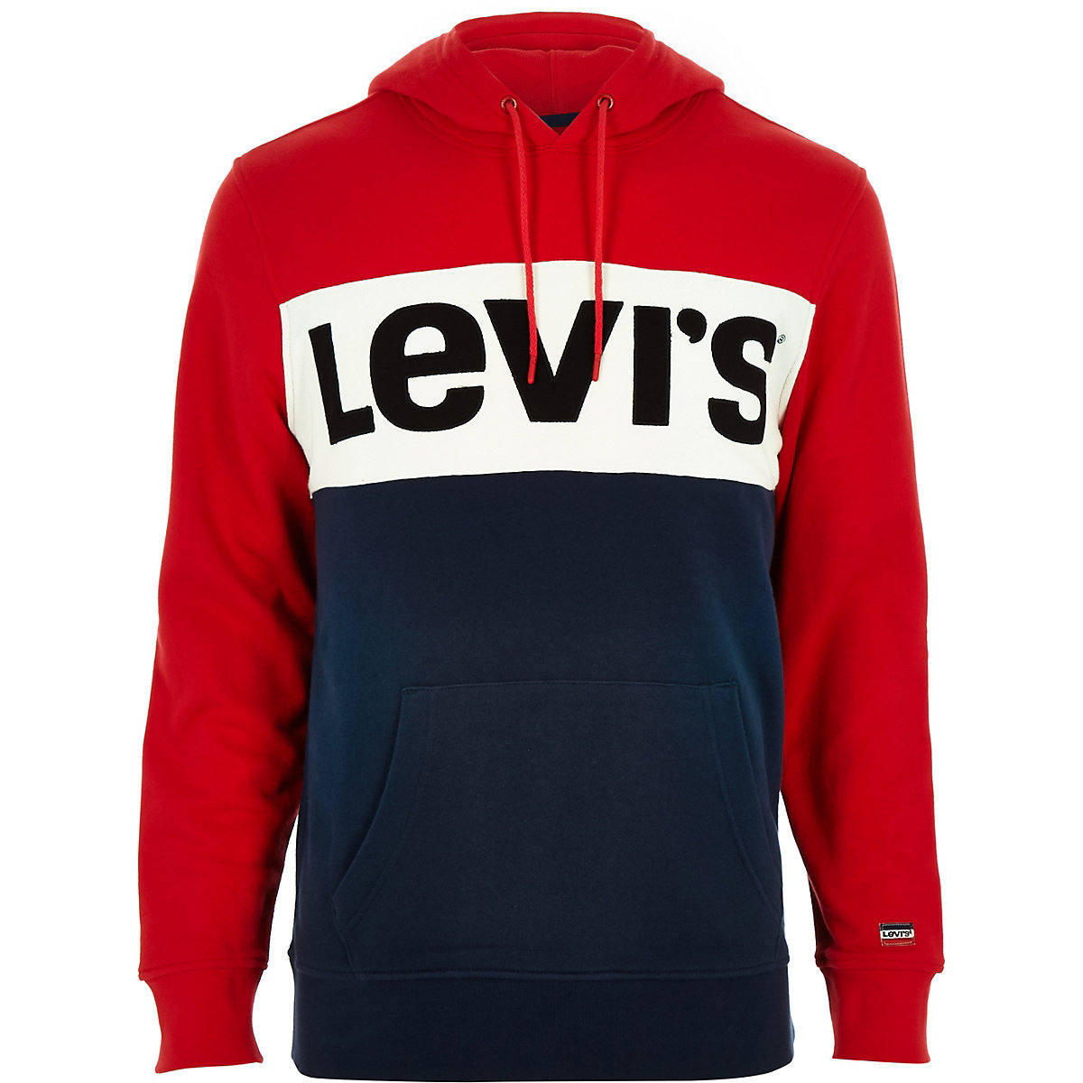 Levi's red colour block hoodie