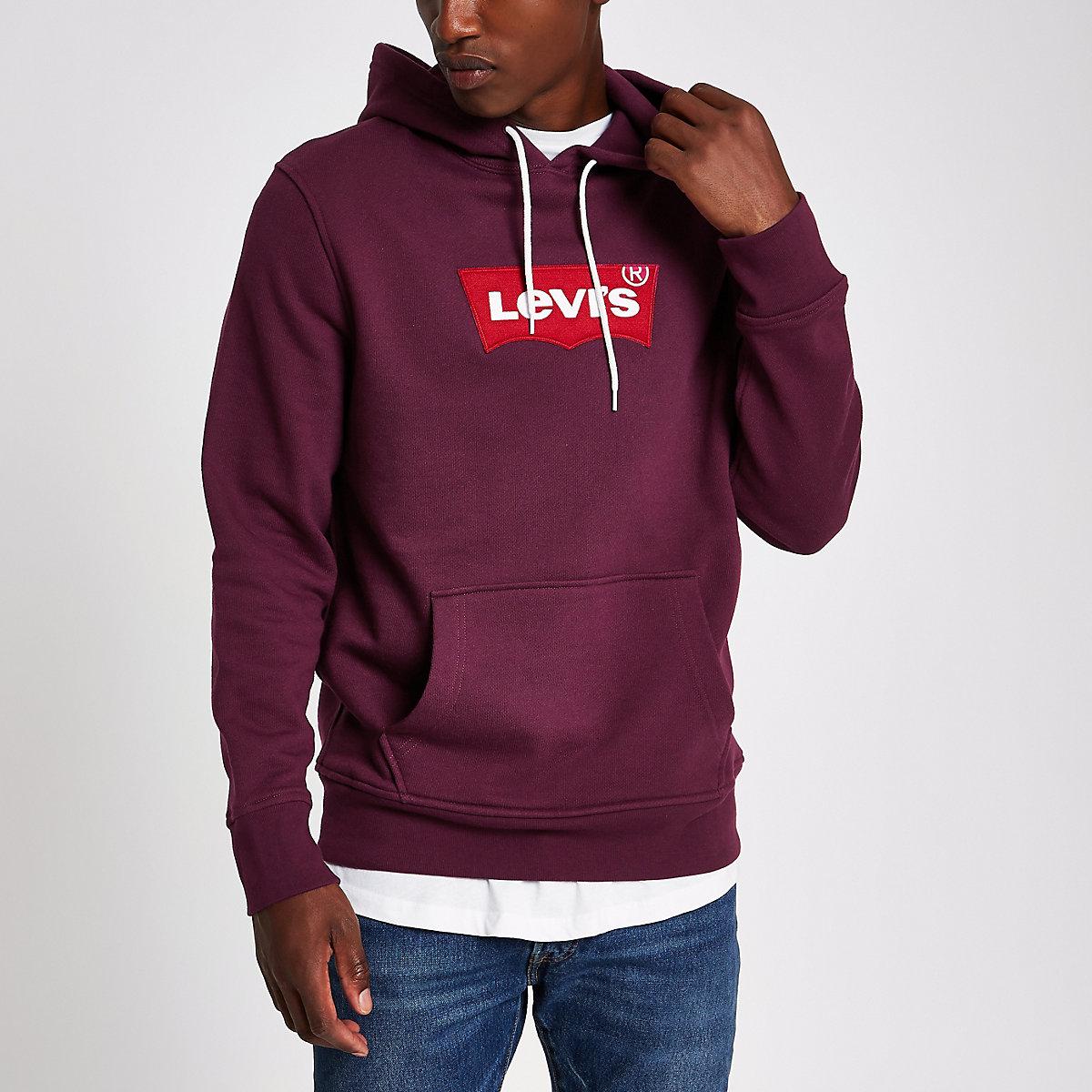 Levi's red print hoodie