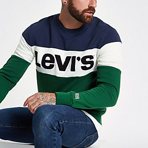 Levi's green color block sweater