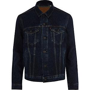 Levi's – Veste de camionneur en jean bleu foncé