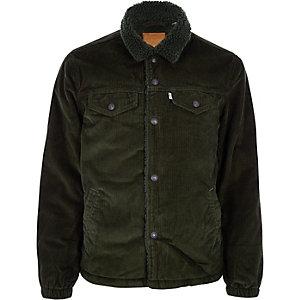 Levi's khaki cord trucker jacket