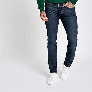 Levi's blauwe 501 skinny jeans