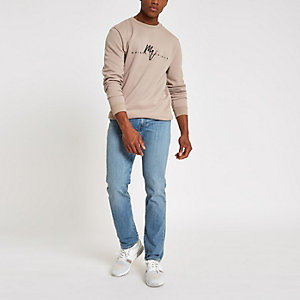 Levi's blue slim fit fade jeans