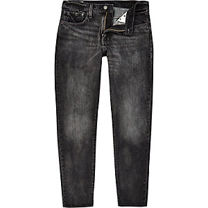 Levi's 512 - Zwarte denim slim-fit smaltoelopende jeans