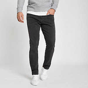 Levis 512 dark grey slim taper fit jeans