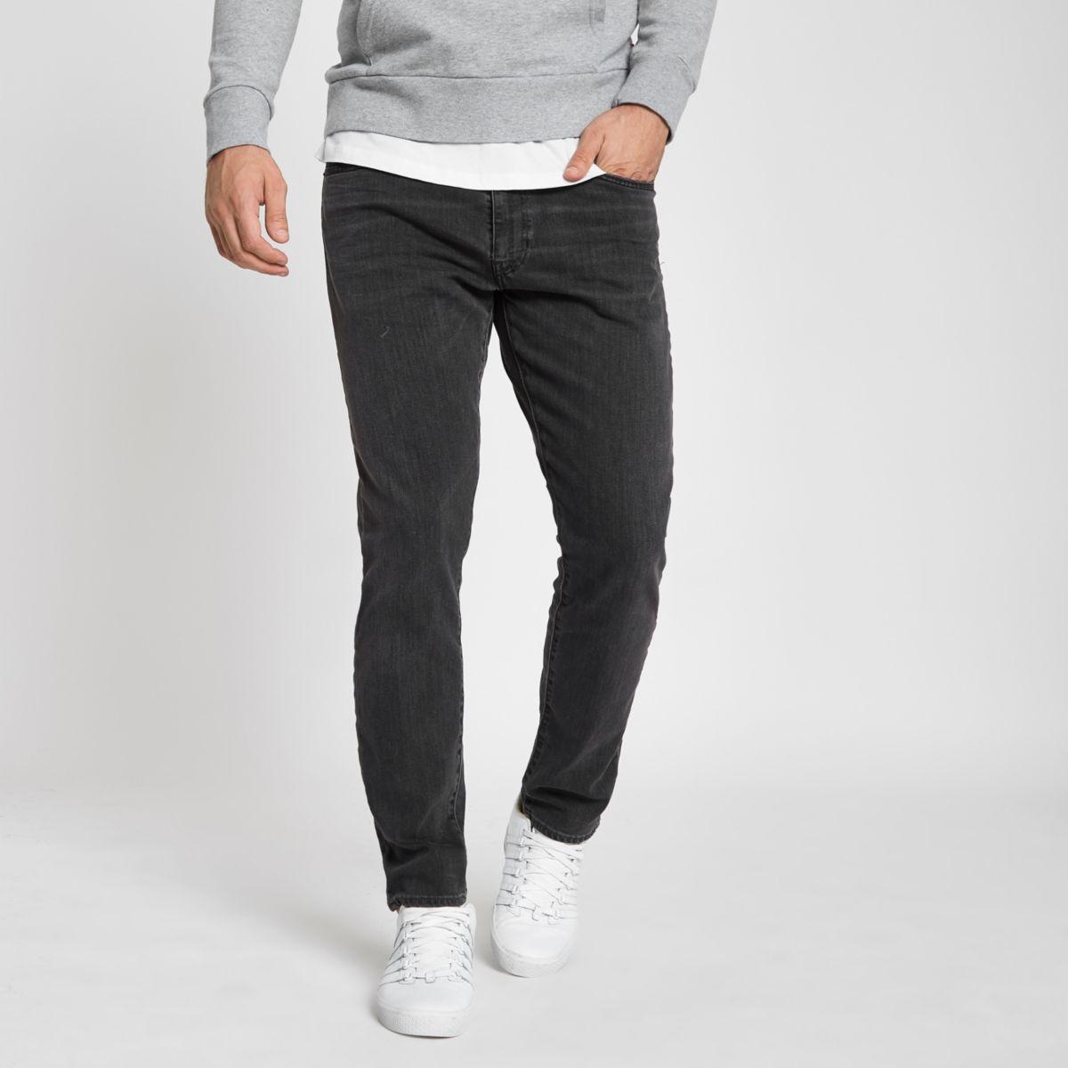 Levis 512 dark grey slim taper fit jeans