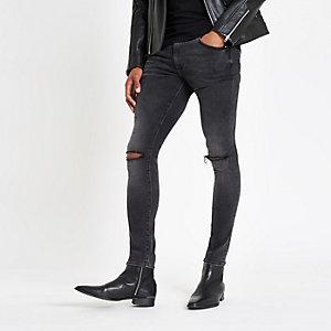 Black wash Danny super skinny stretch jeans