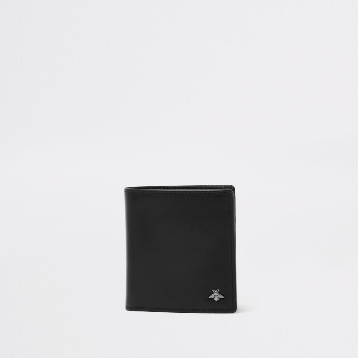 Black wasp embellished fold out wallet