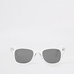 Clear frame retro sunglasses