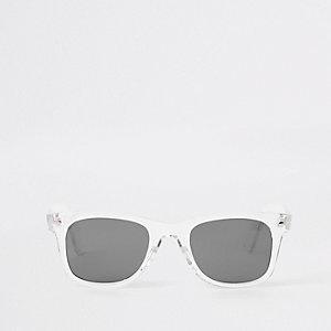 Retro zonnebril met transparant montuur