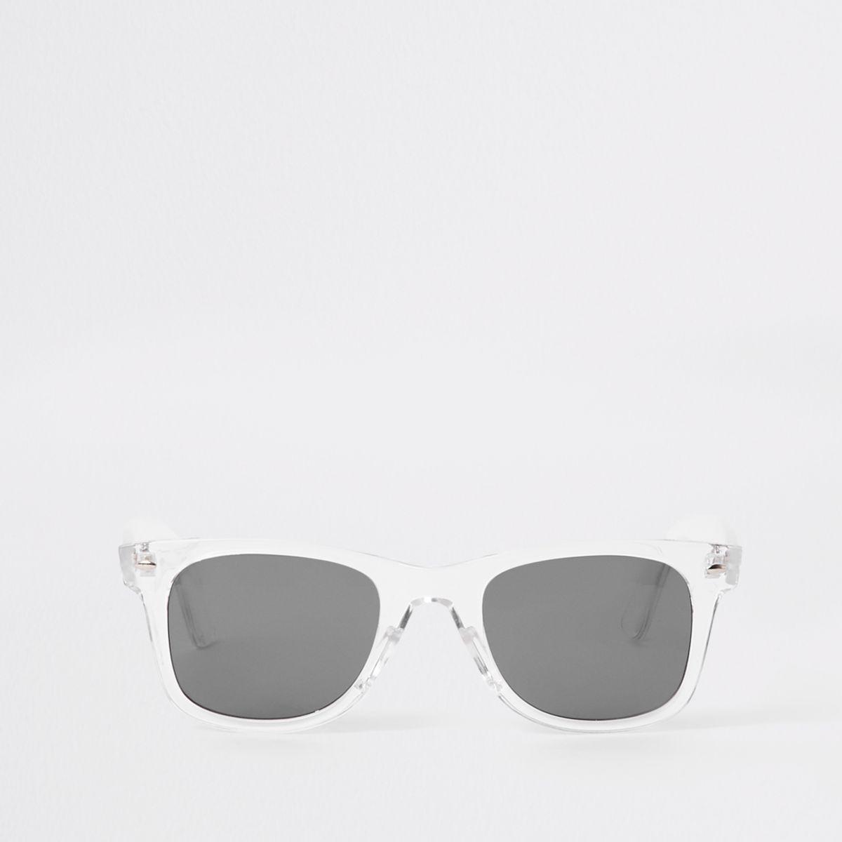 Clear frame retro sunglasses