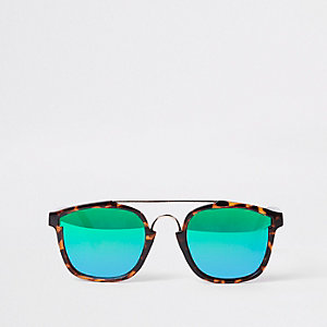 Brown tortoiseshell revo lens sunglasses