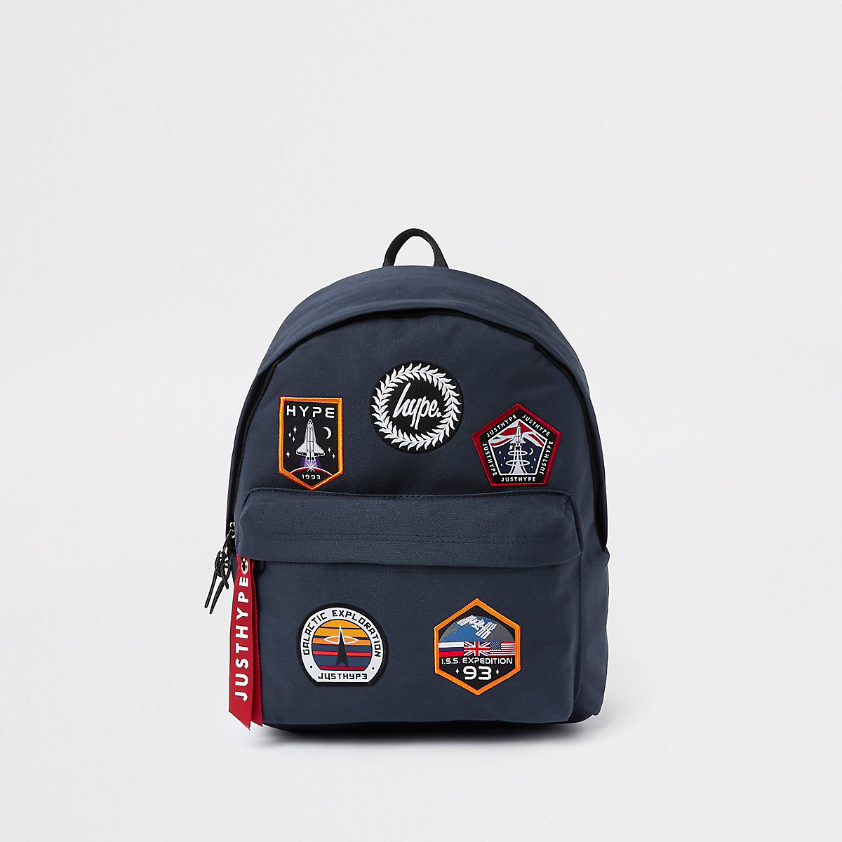 Hype navy space embroidered backpack