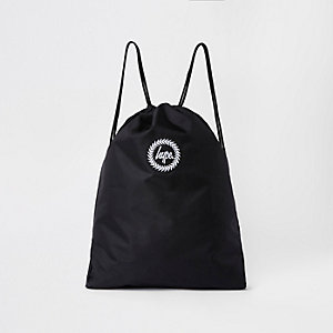 Hype - Zwarte tas met trekkoord en borduursel