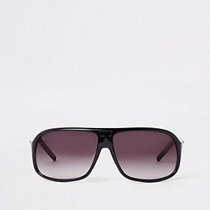 Lunettes de soleil masque noires à verres fumés