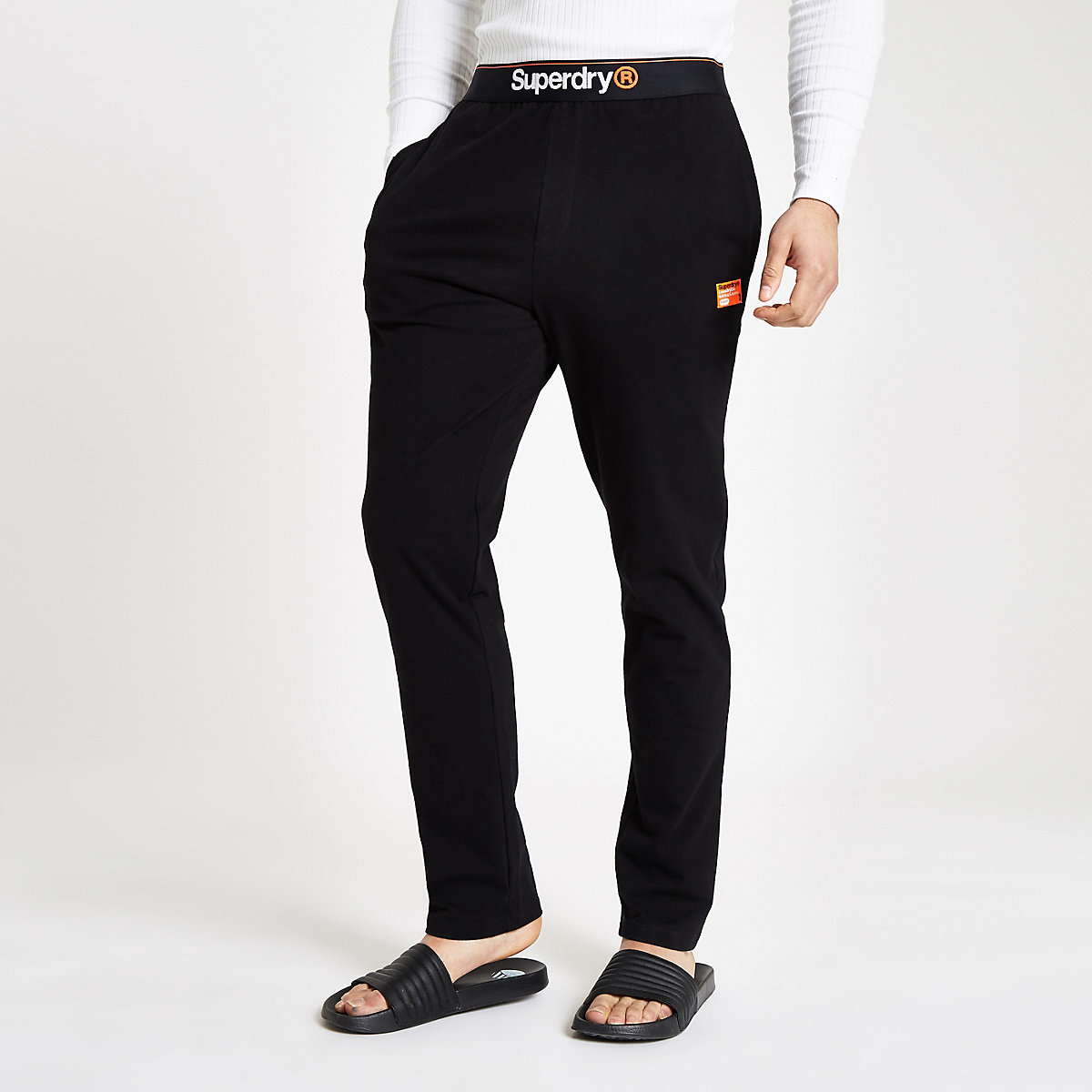 Superdry black loungewear pants