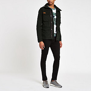 Superdry black army jacket