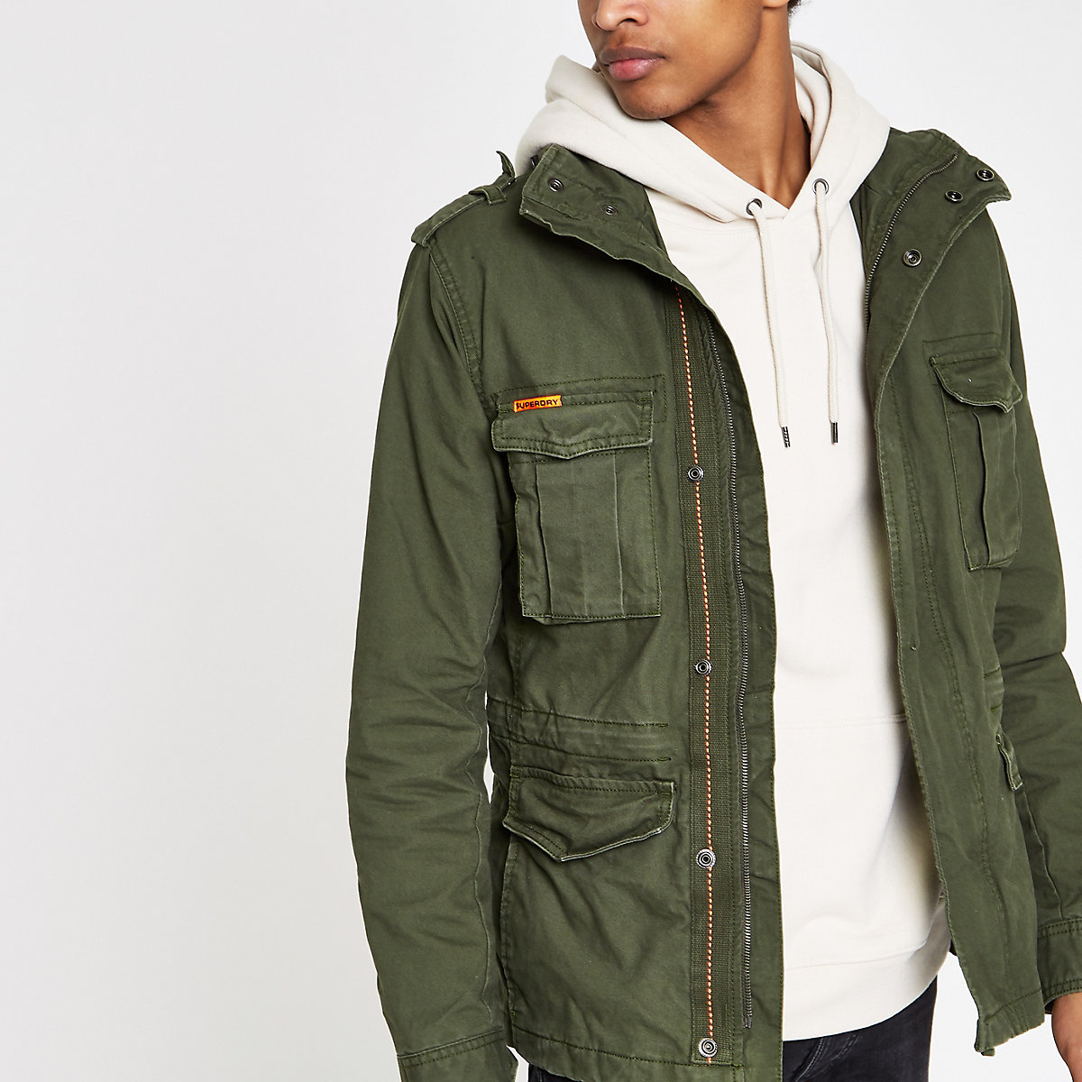 Superdry green army jacket