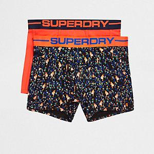 Superdry - Set van 2 oranje sportieve strakke boxers