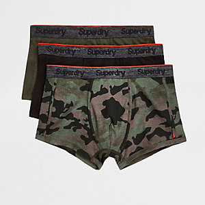 Superdry green sport trunk 3 pack