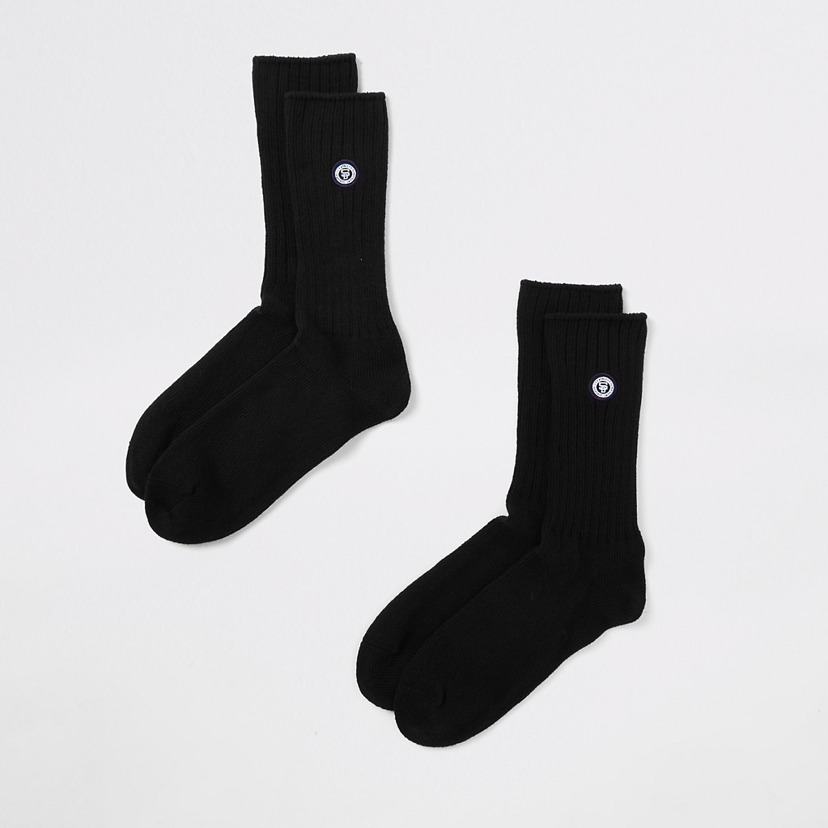 Superdry University black socks multipack