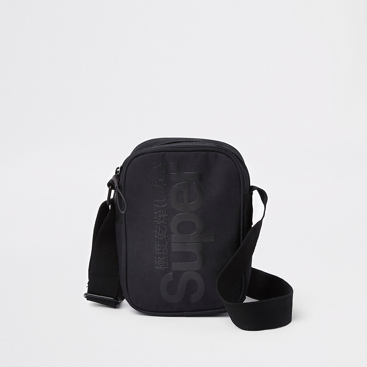 Superdry black cross body pouch
