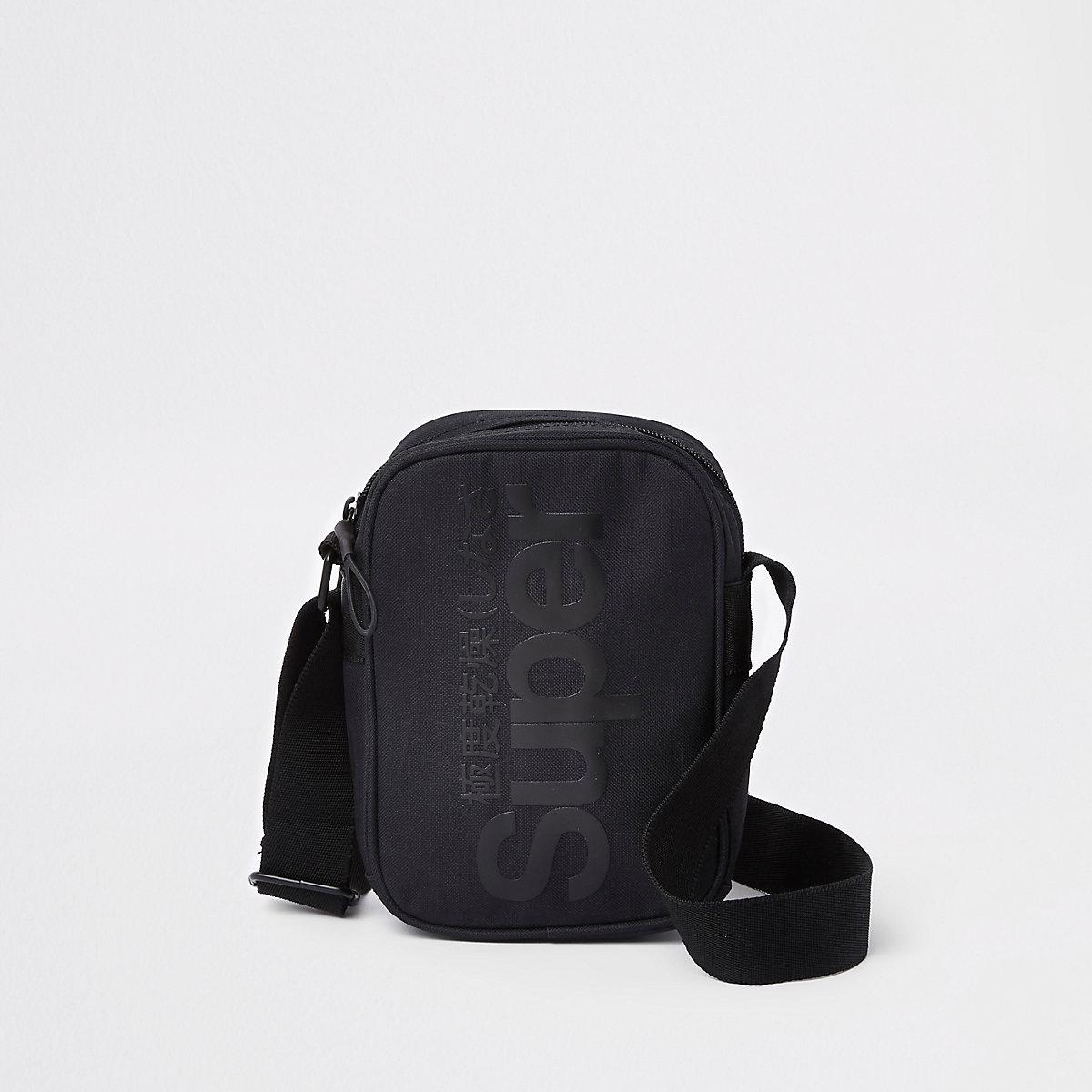 Superdry black cross body pouch