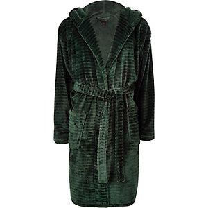 Green 'R96' fleece dressing gown