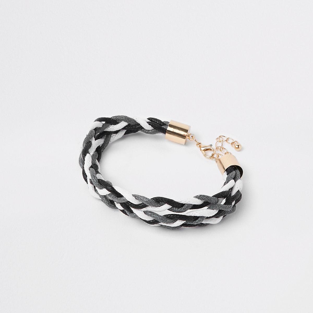 Grey woven lattice bracelet