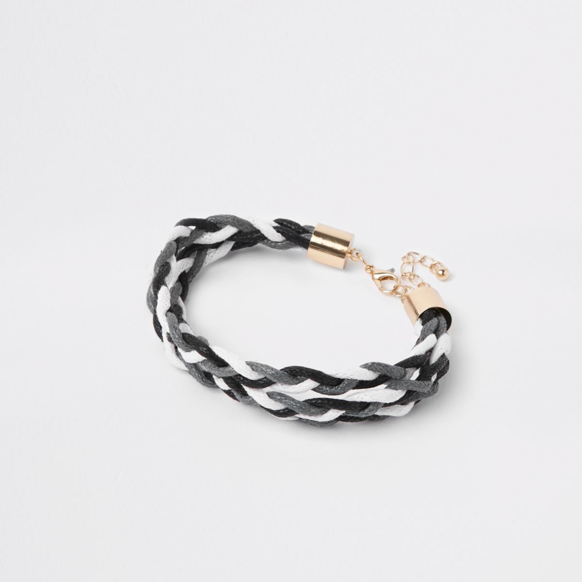 Grey woven lattice bracelet