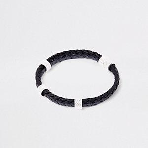 Bracelet double noir à croisillons