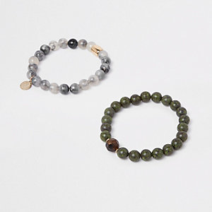 Green beaded bracelet pack
