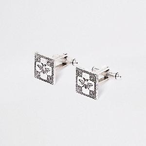 Silberne Manschettenknöpfe