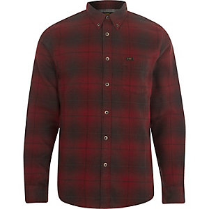 Lee red check button-down shirt