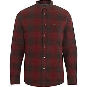 Lee – Chemise à carreaux rouge boutonnée