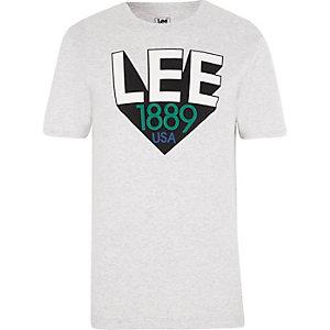 Lee – T-shirt gris à logo