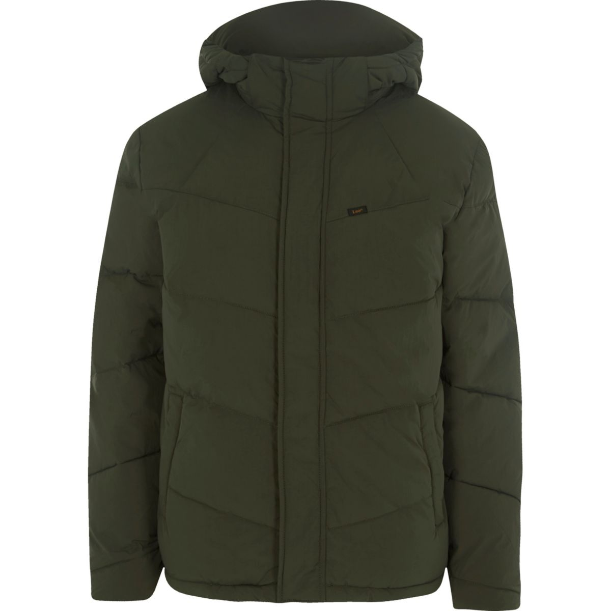 Lee green hooded puffer jacket