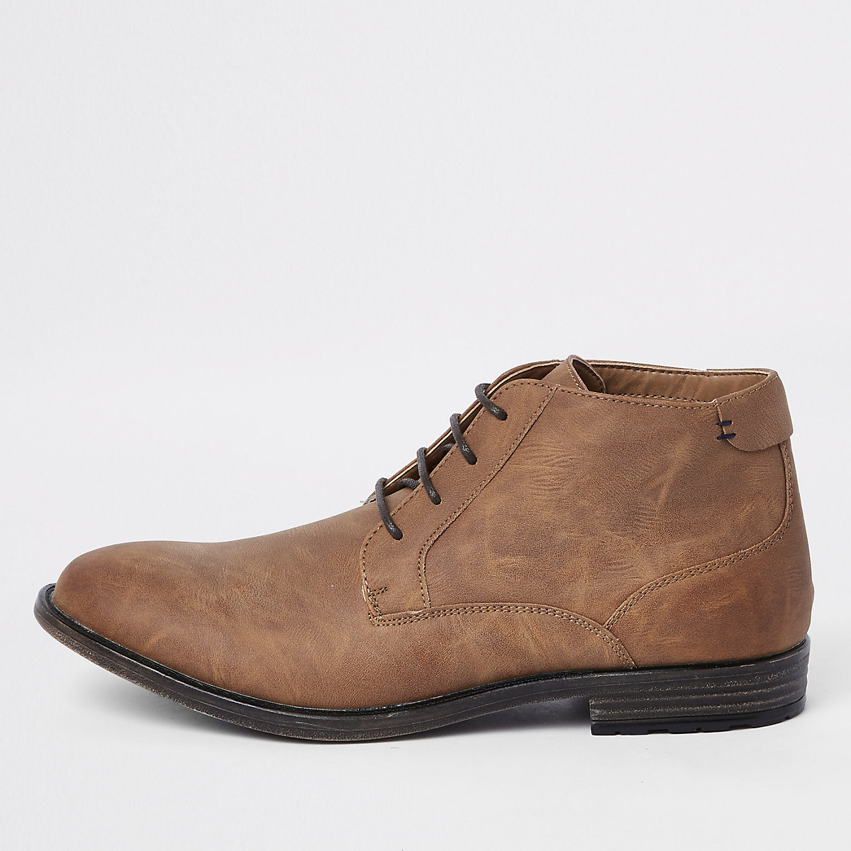 Brown lace up chukka boot