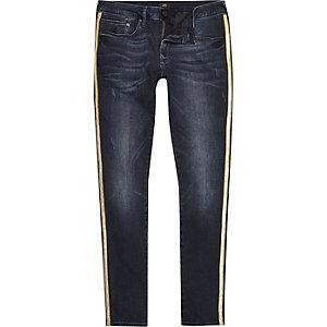 Big & Tall – Dunkelblaue Ultra Skinny Jeans