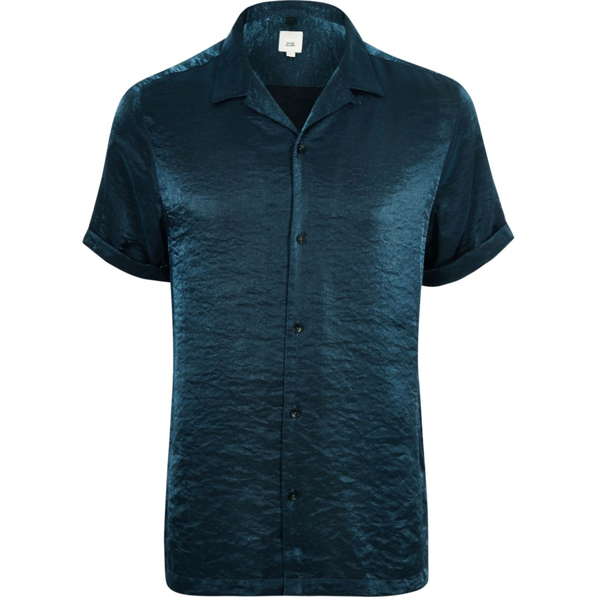 revere shirt sleeve Blue short metallic aWqOxxXnZ