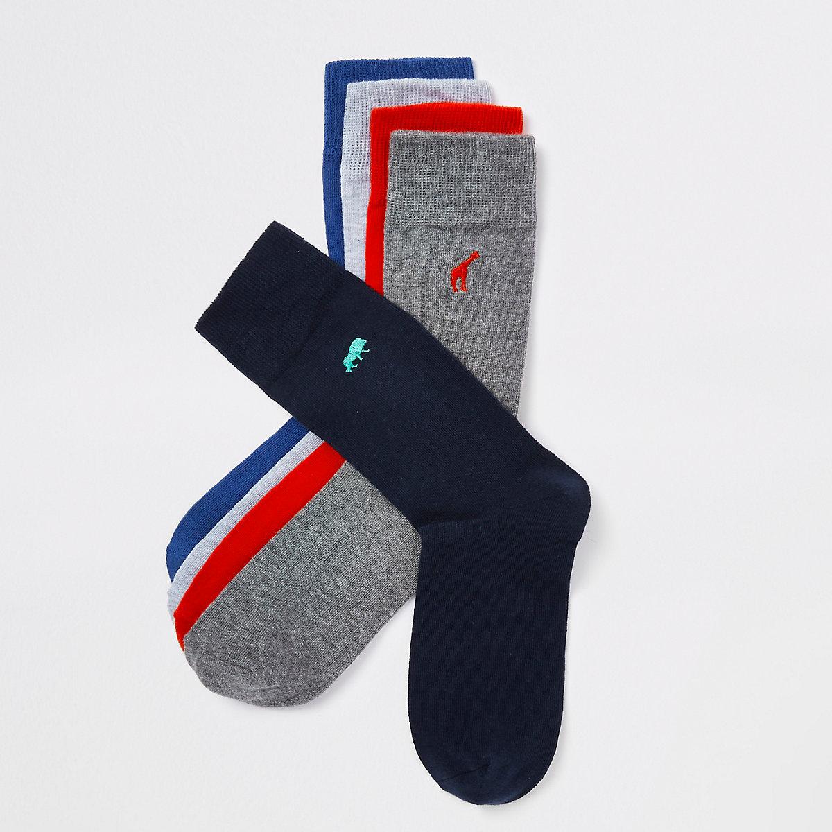 Multicoloured animal print socks multipack