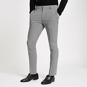 Olly Murs black check super skinny pants